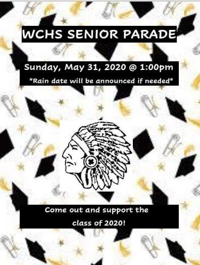 WCHS Senior Class of 2020 Parade Celebration