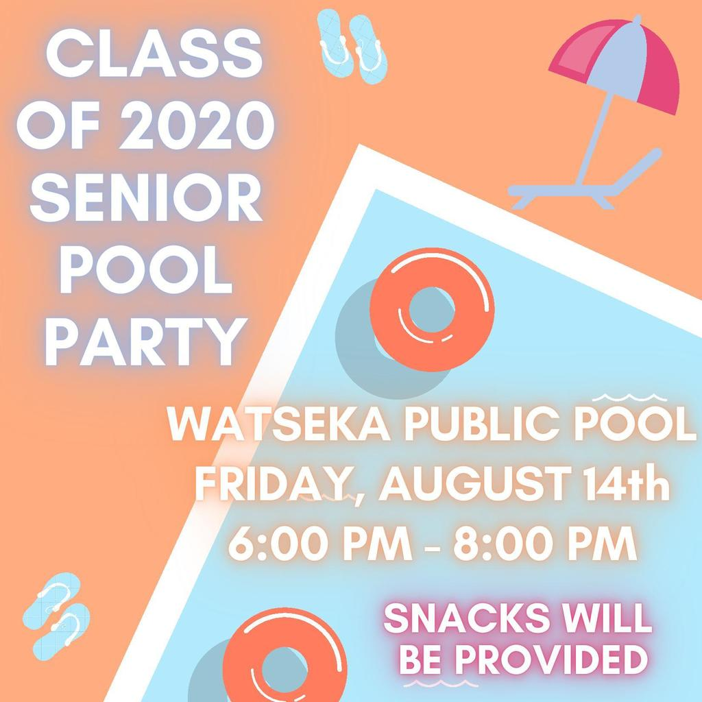 Class of 2020 Pool Party